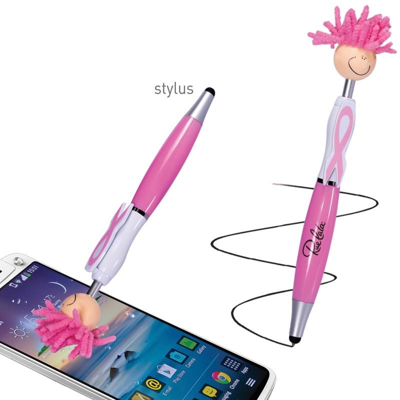 Mop Top Awareness Ribbon Ballpoint Pen / Stylus - Indent