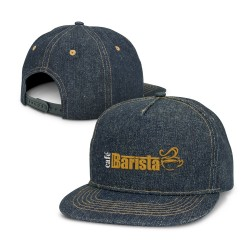 Denim Flat Peak Cap