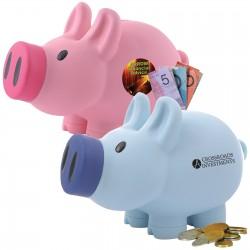 Priscilla Pig (Pink) and Patrick Pig (Blue) Coin Bank