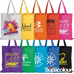 Coloured Cotton Double Short Handle Tote Bag - 140 GSM