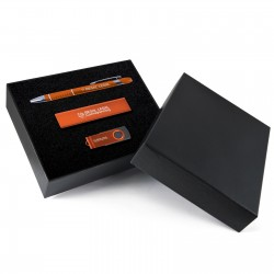 Superior Gift Set - Miami Pen, Velocity Power Bank, Swivel Flash Drive
