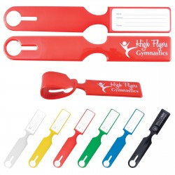 Shiny PVC Self Locking Luggage Tag - Indent