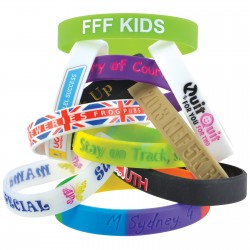12mm Wide Silicone Wrist Band - Indent