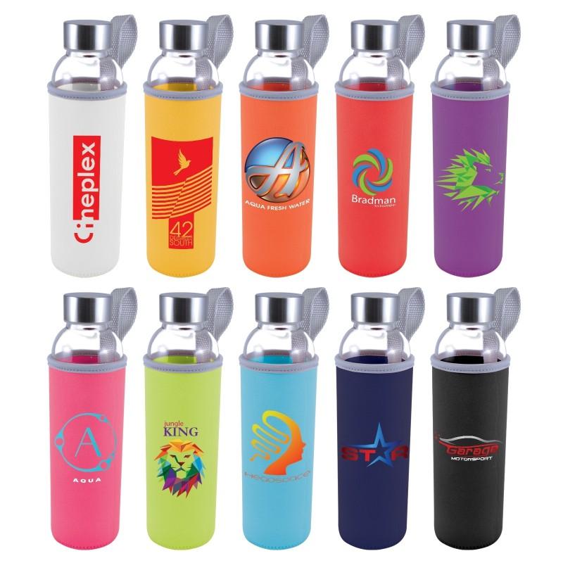 Capri Glass Bottle with Neoprene Sleeve - 570ml