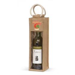Serena Jute Wine Carrier