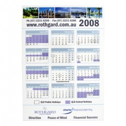 Magnetic Tab Calendar 148mm w x 210mm