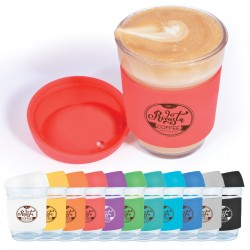 Vienna Glass Coffee Cup/Silicone Lid