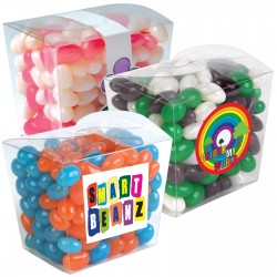 Corporate Colour Mini Jelly Beans in Clear Mini Noodle Box