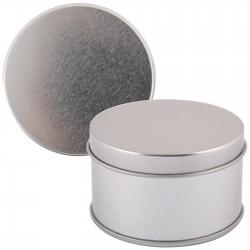Silver Round Tin