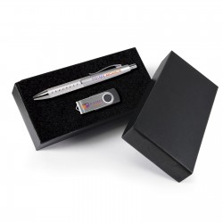 Style Gift Set - Bling Pen and Swivel Flash Drive