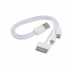 3 in 1 Combo USB Cable USB Cable - Micro, 8 Pin, 30 Pin