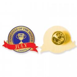 Die Struck Soft Enamel Badge 25mm - Indent