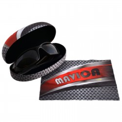 Hard Sunglasses Case with Lens Cloth - Indent