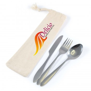 Banquet Cutlery Set in Calico Pouch