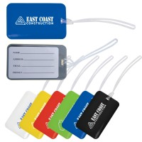 Shiny PVC Luggage Tag with Loop - Indent