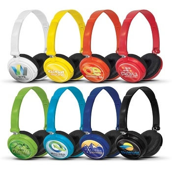 branded headphones